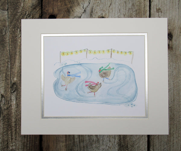 2019 NEW Joyful Chickens Print