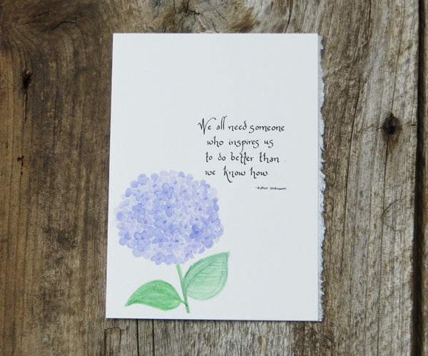 Purple Hydrangea Quote Card