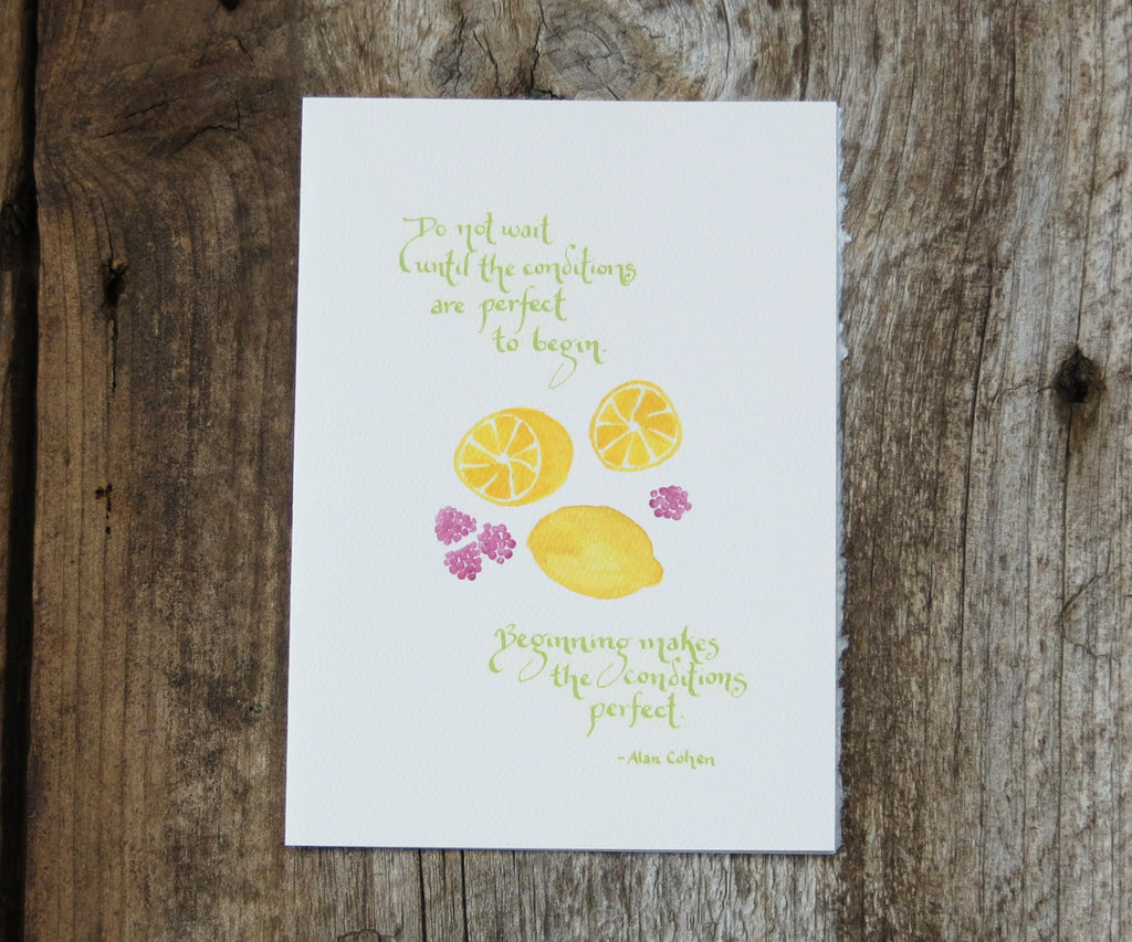 Raspberry Lemonade Quote Card