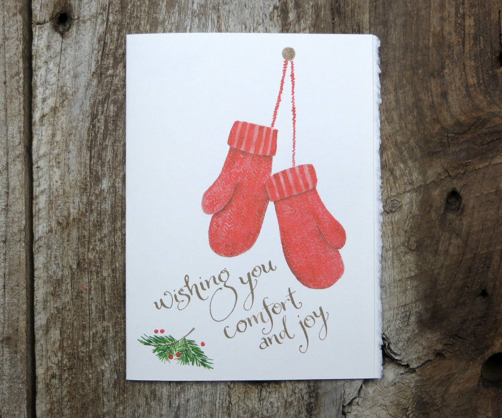 Red Mittens Card SALE
