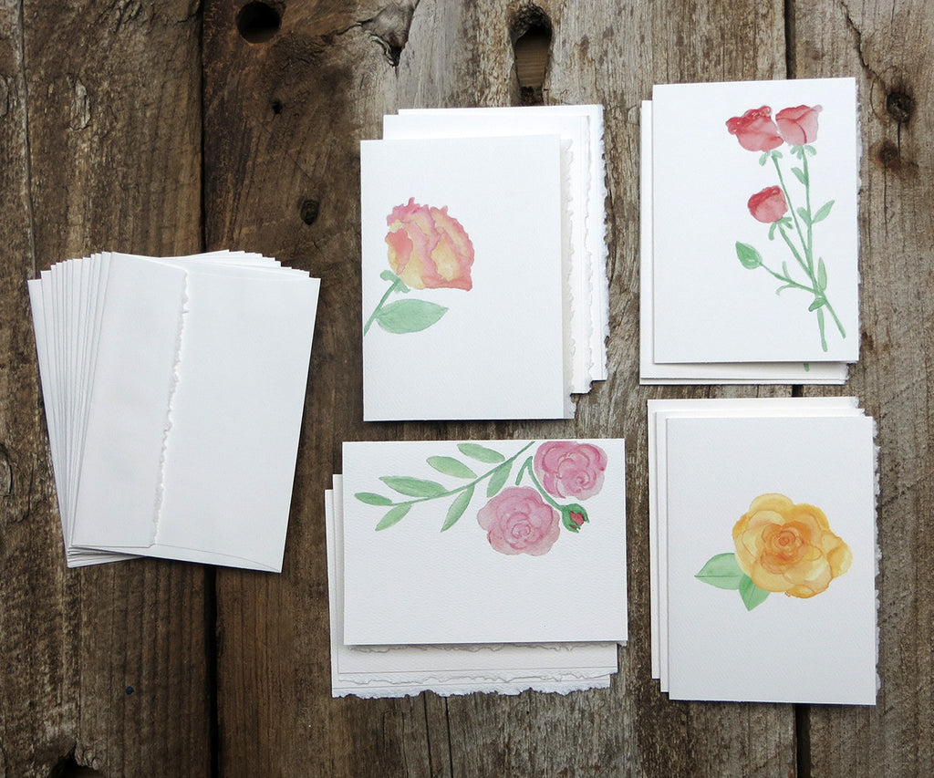 Roses note cards