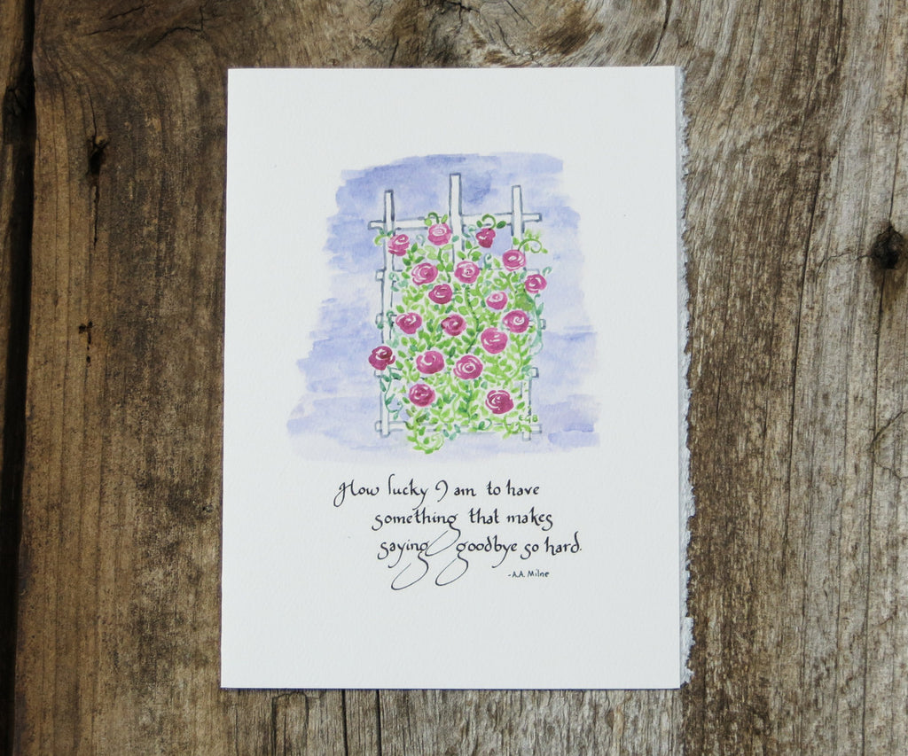 Rose Trellis Quote Card