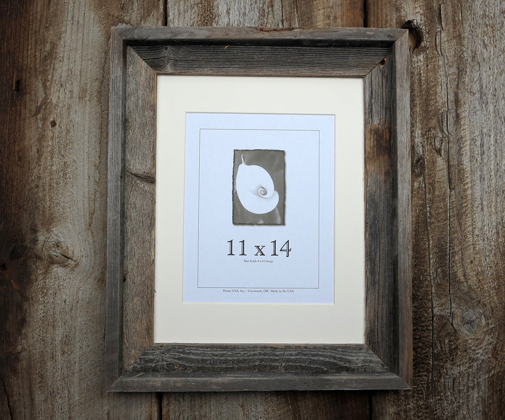Add Rustic Barn Wood Frame