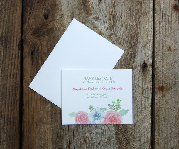 Blushing Anemone Save the Date