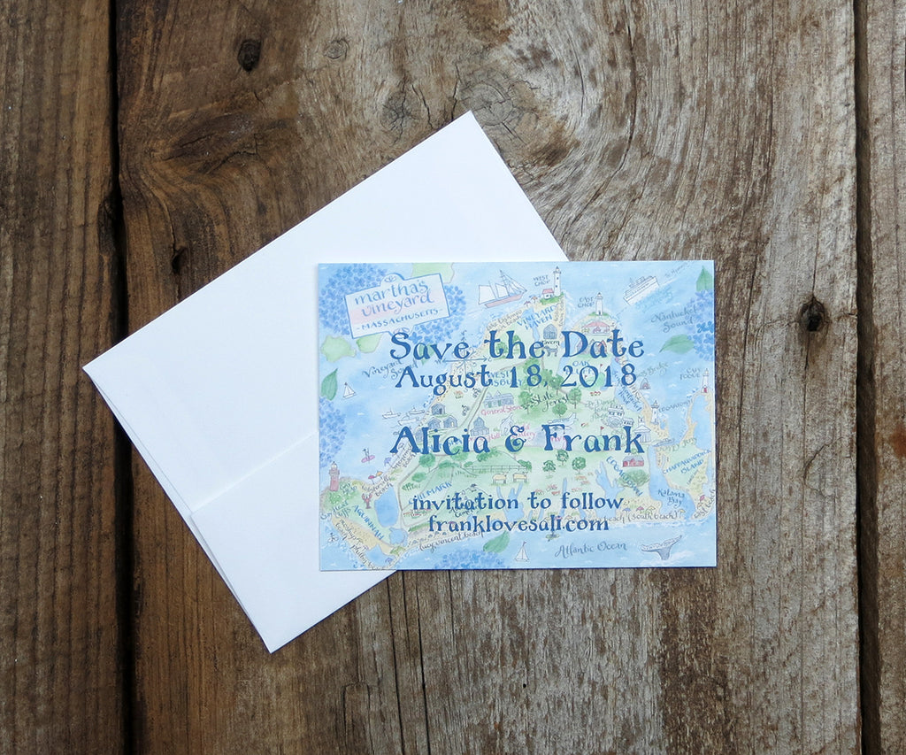 Martha's Vineyard Hydrangea Save the Date
