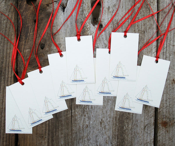 Schooner Holiday Gift Tags