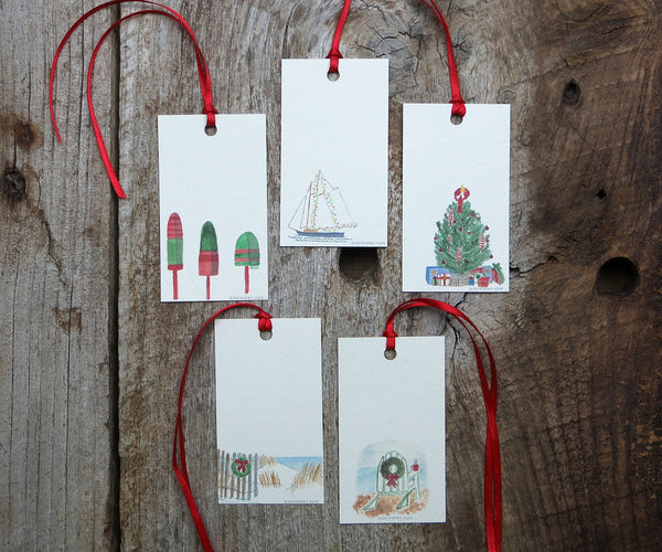Seashore Holiday Gift Tags