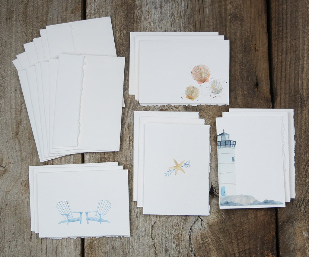 Seaside Serenity Note Cards