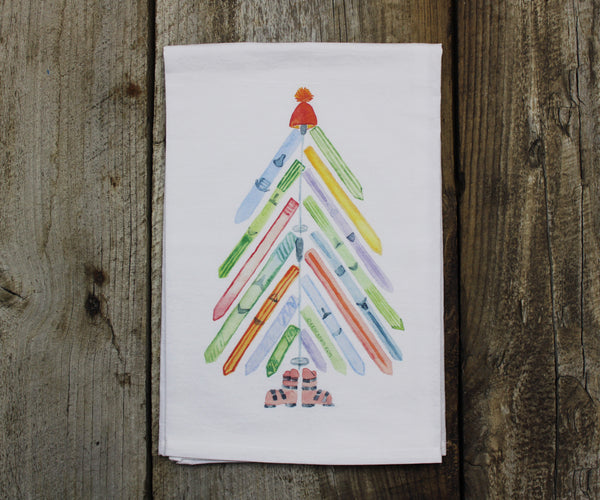 Ski Tree Tea Towel