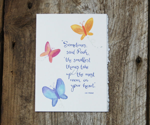 Smallest Things Quote Card