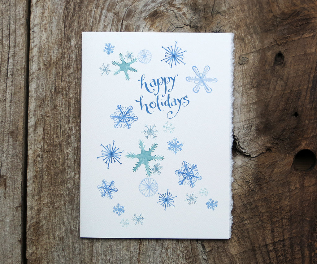Soft Snowflakes Card Sale