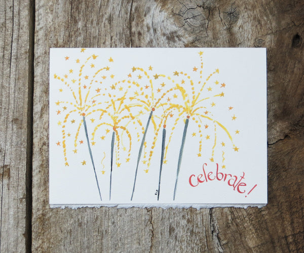 Sparklers birthday card