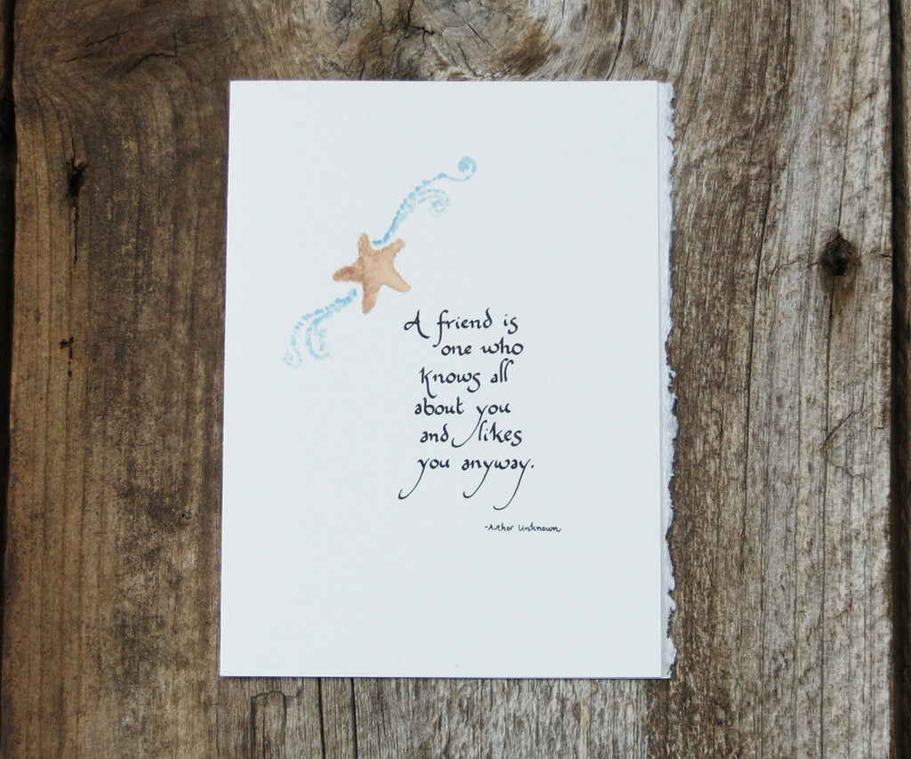 Starfish Quote Card