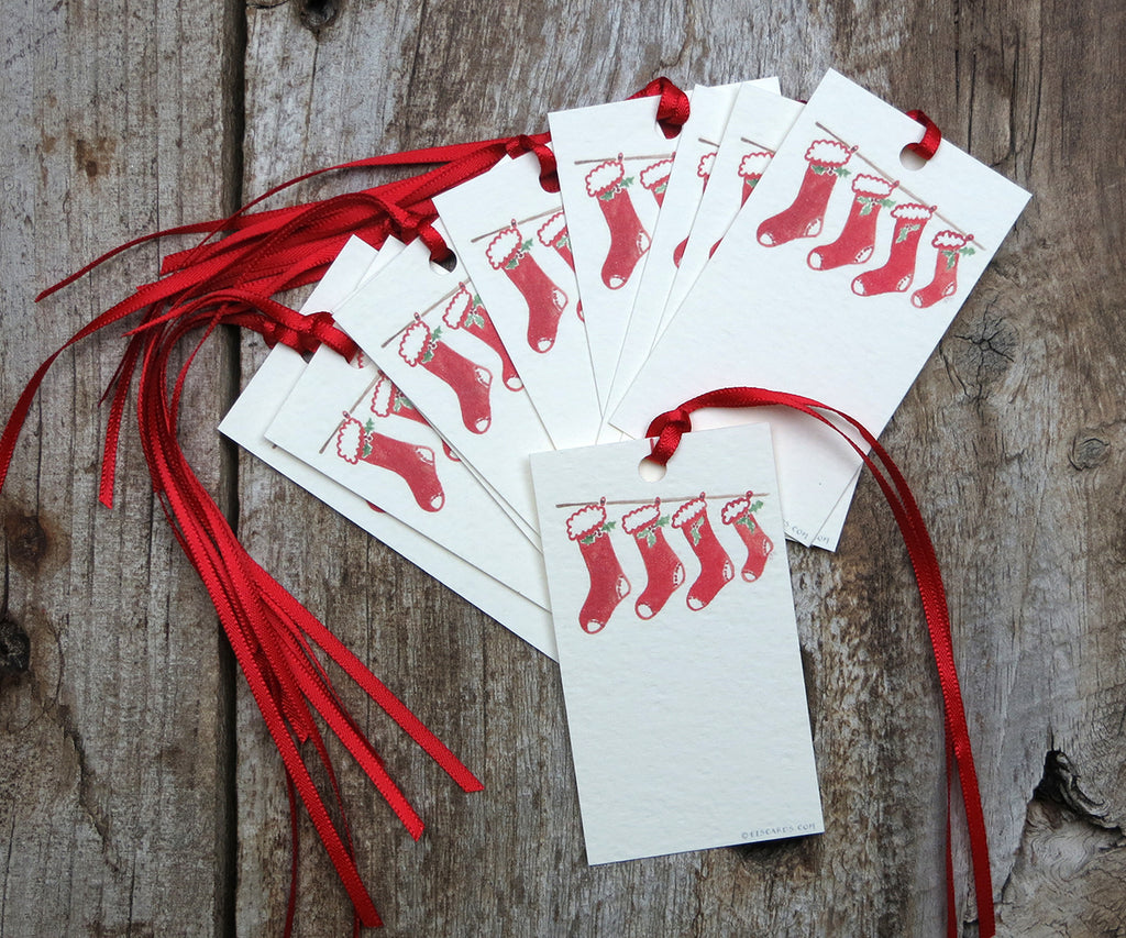 Stockings Holiday Gift Tags