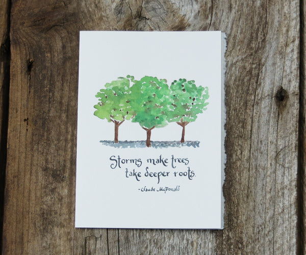 Storms Quote Card