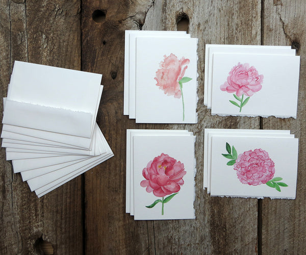 peonies note cards
