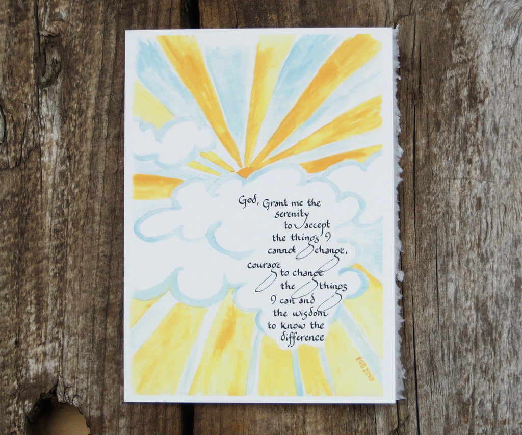 Serenity Prayer Recovery Card