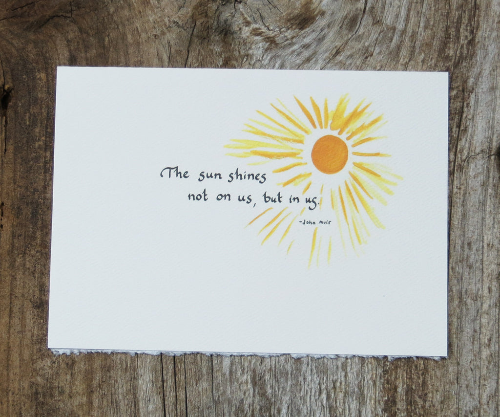 Sunshine Quote Card