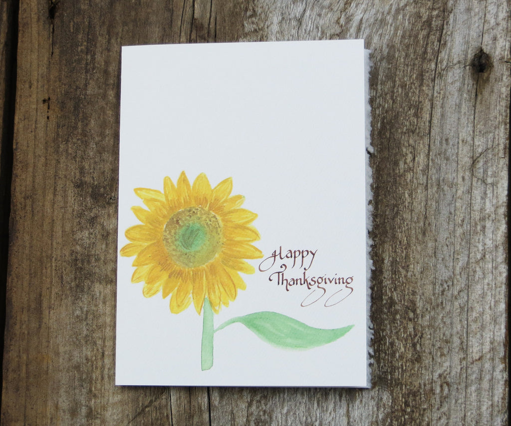Sunflower Thanksgiving card