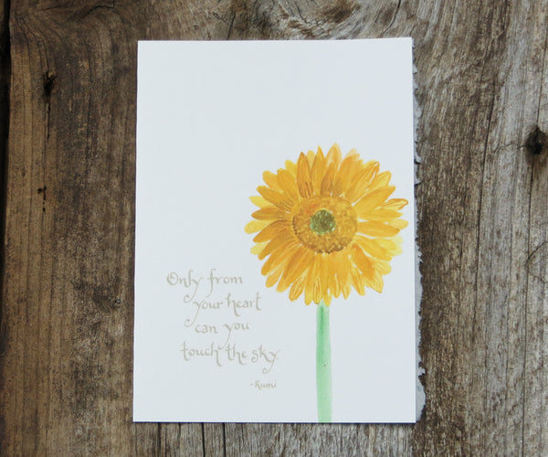 Sunflower Quote Card