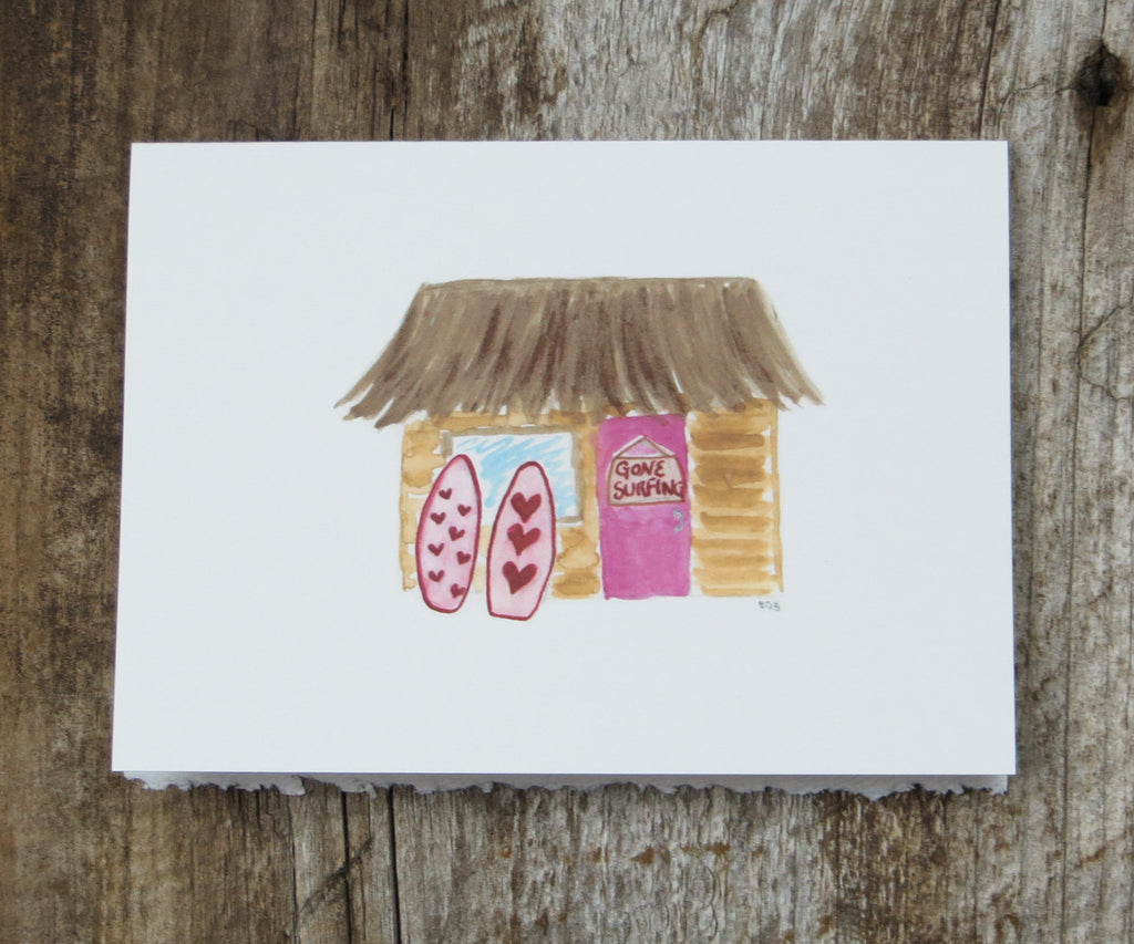 Surf Shack Valentines Card