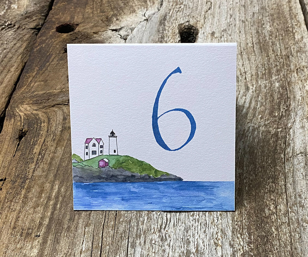 Beach Rose Lighthouse Table Signs