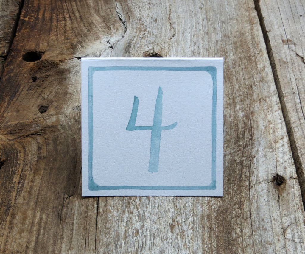 Watercolor Border Table Signs