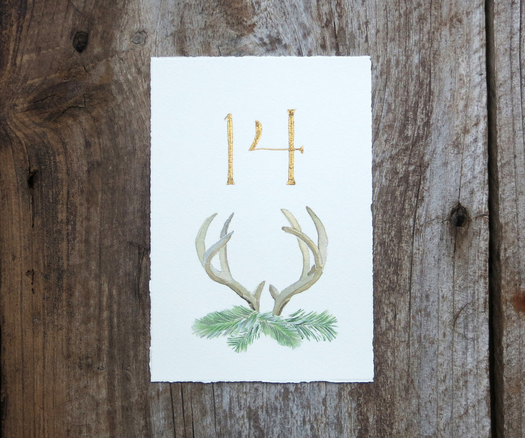 Highland Evergreen Table Signs