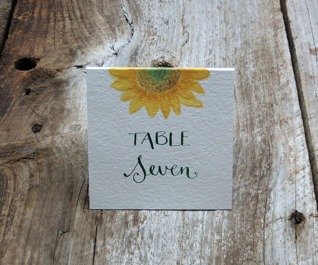 Rustic Sunflower Table Sign