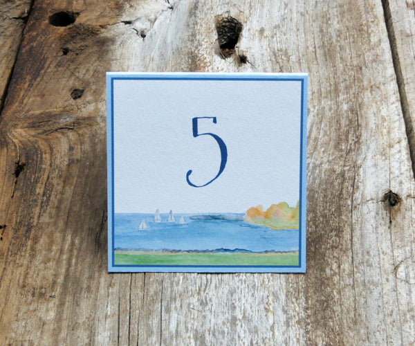 Harbor View Table Signs