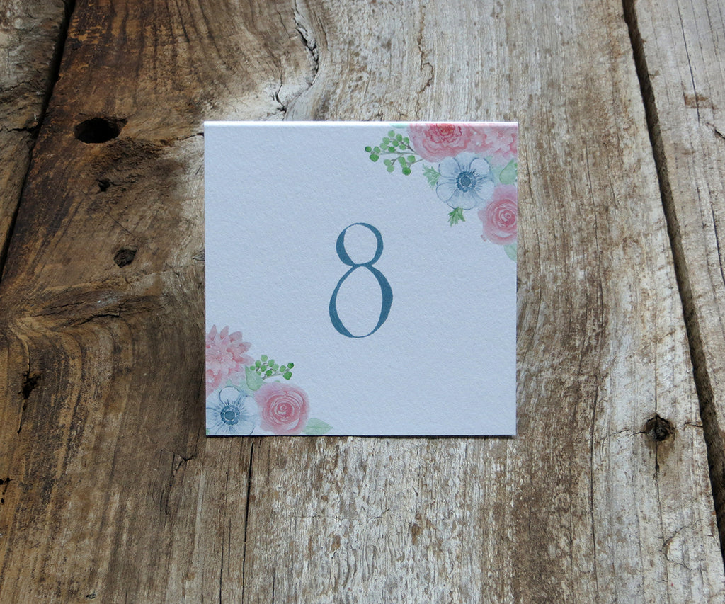 Blushing Anemone Table Signs