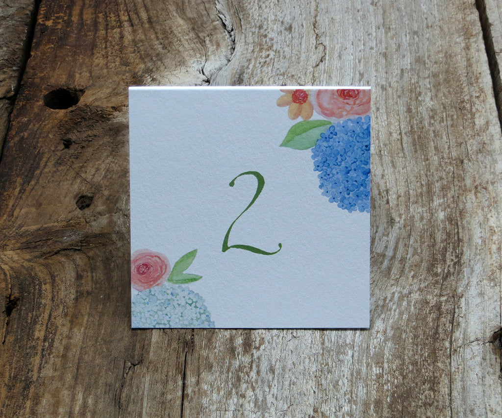 Hydrangeas and Roses Table Signs