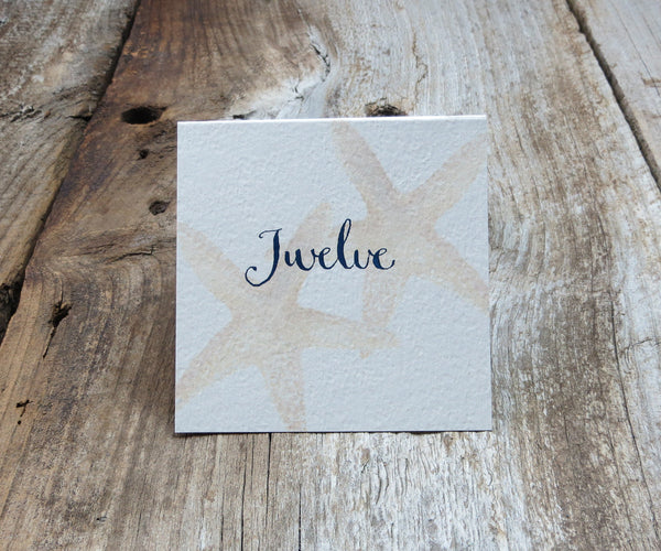 Chic Starfish Table Signs