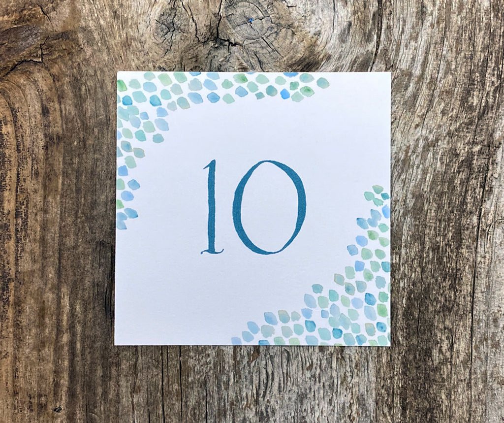sea glass table number