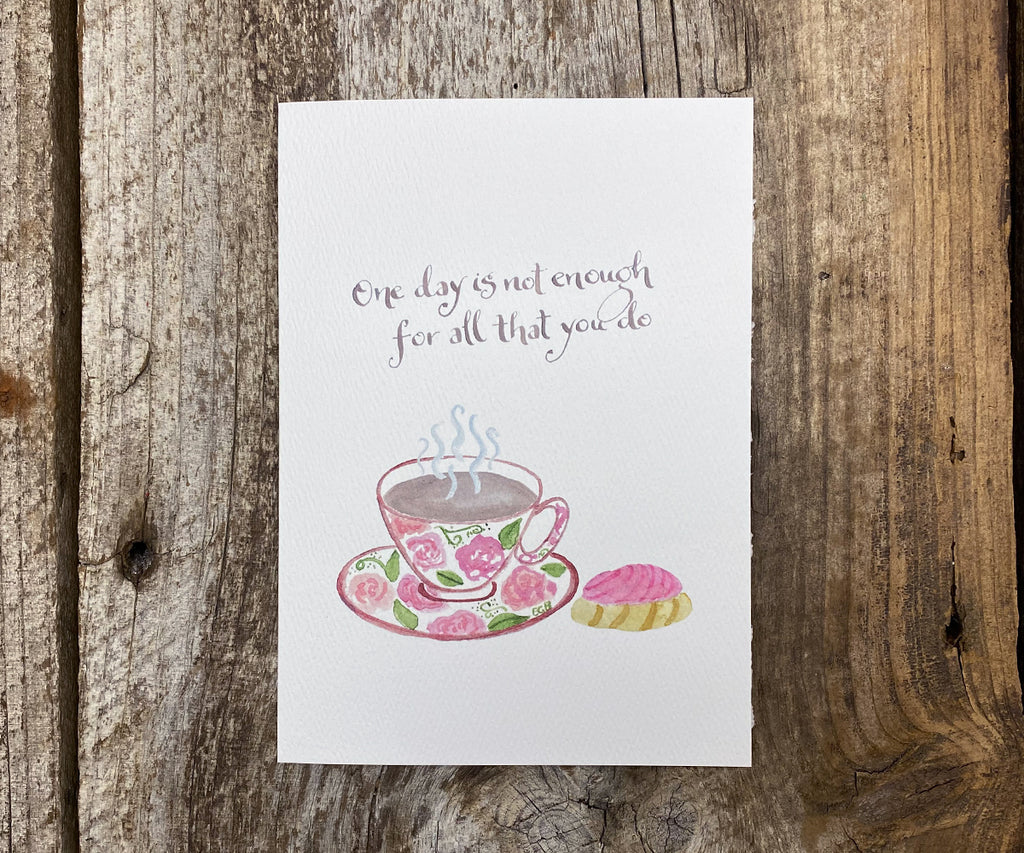 Teacup Mother's Day Card