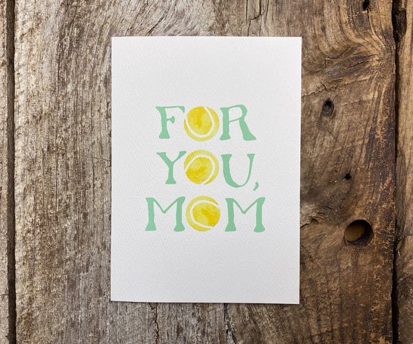 Tennis Mom Mother's Day Card