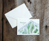 Ski Mountain Wedding Thank You Notes