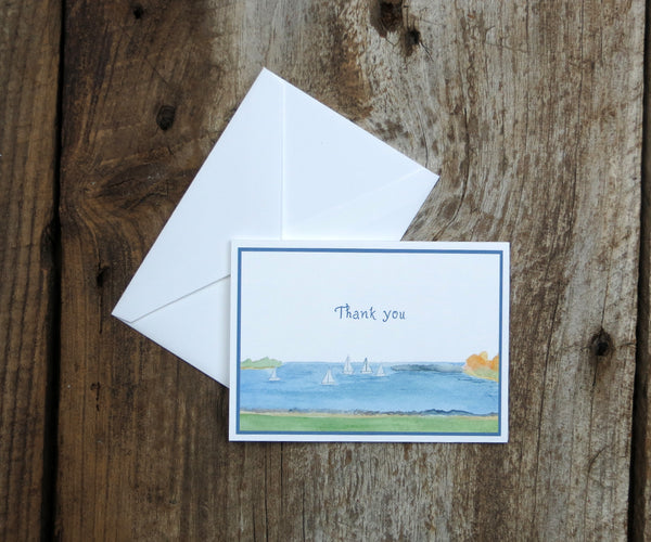Harbor View Wedding Thank You Notes