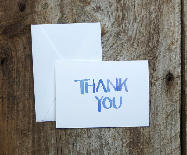 Watercolor Wash Wedding Thank You Notes