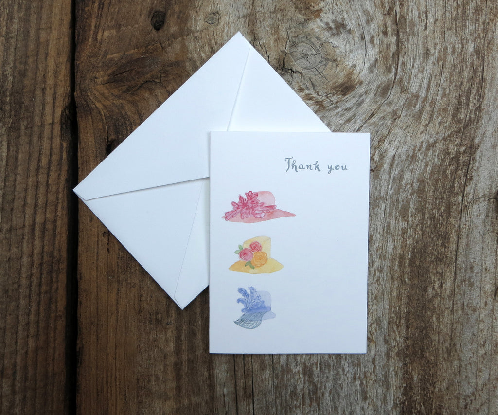 Fancy Hats Thank You Notes