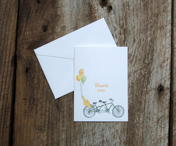 Bike for 3 Thank You Notes