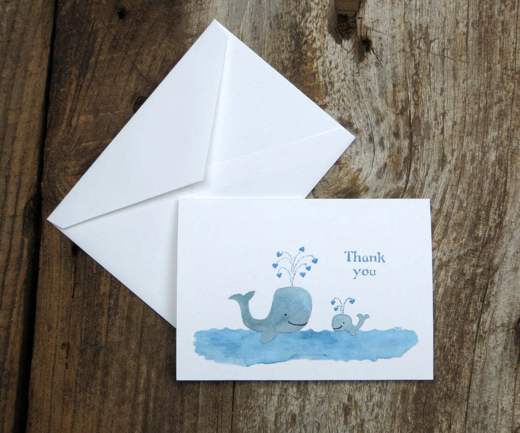 Blue whale thank you note