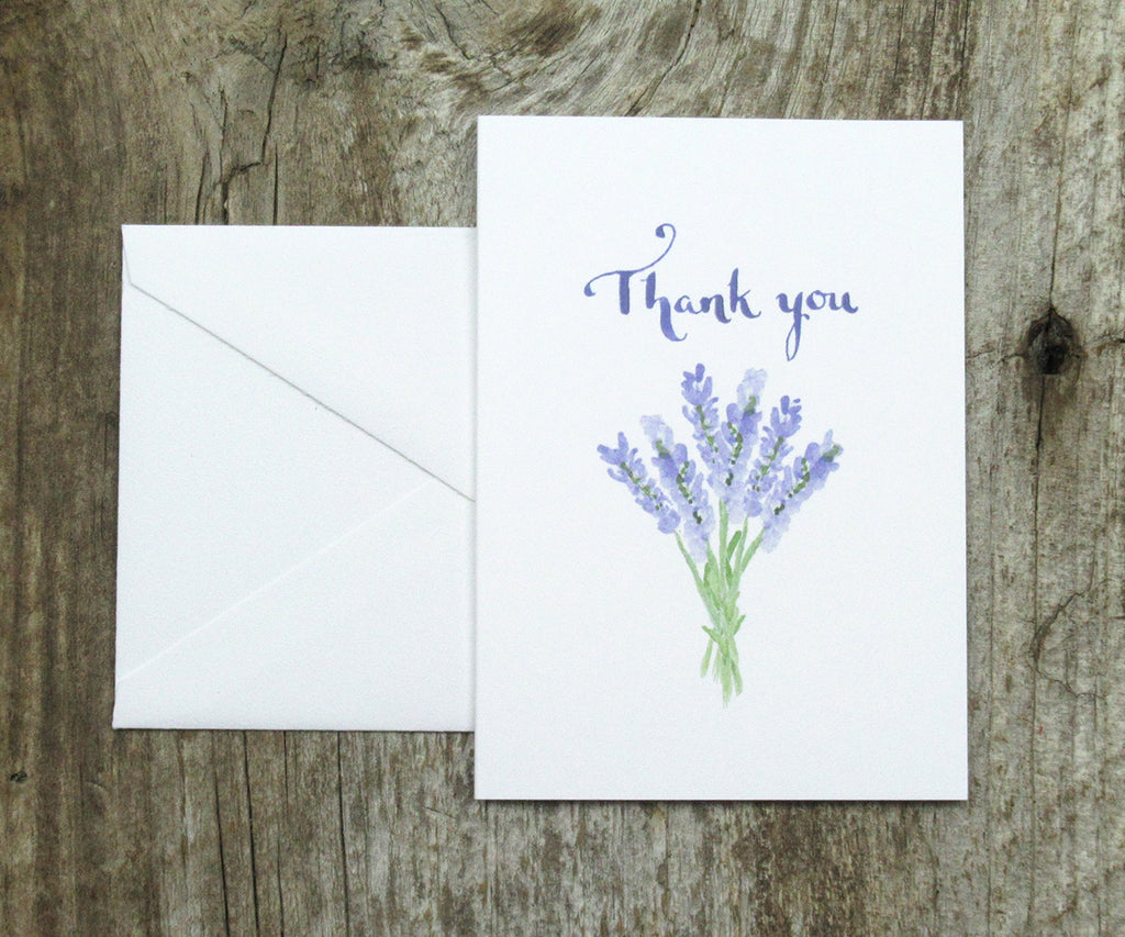 Wedding Thank You Note.Lavender Wedding Thank You Notes