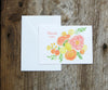 Coral Ombre Wedding Thank You Note