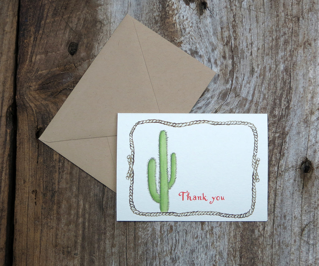 Cactus thank you note