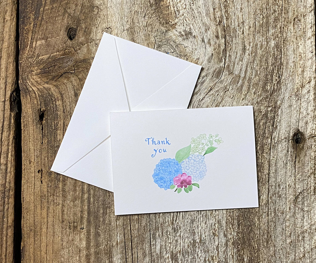Beach Rose Lighthouse Thank You Notes