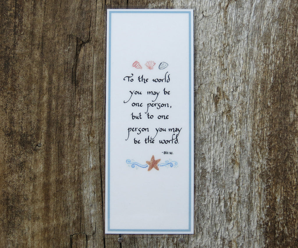 To The World Bookmark