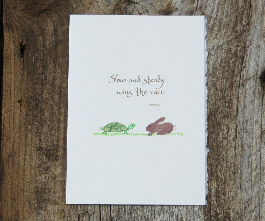 Tortoise & Hare Quote Card