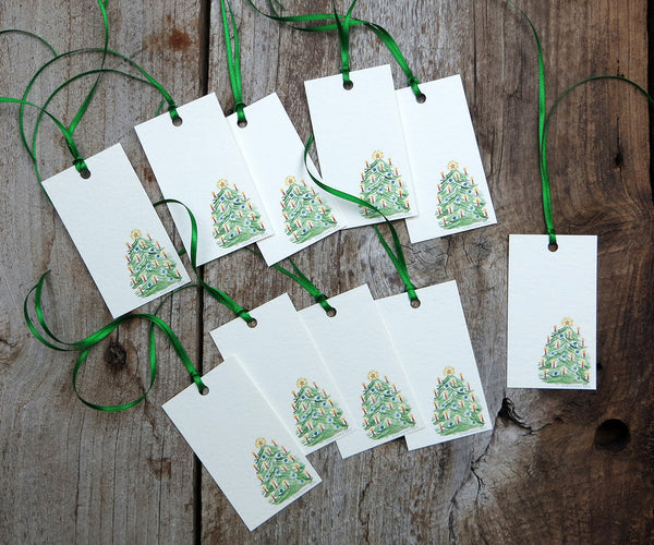 Candle Tree Holiday Gift Tags