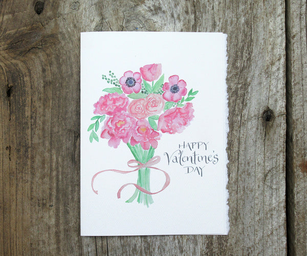 2020 Valentine Bouquet Card